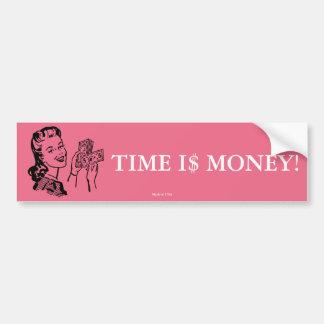 時間はお金のバンパーステッカーです バンパーステッカー