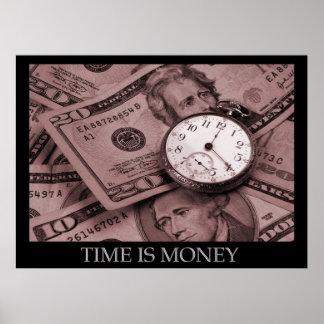 時間はお金ポスターです ポスター