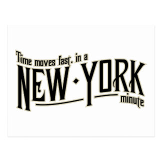 時間はニューヨーク分に速く動きます ポストカード
