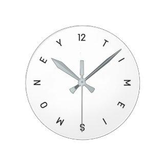 時間は金銭の柱時計です ラウンド壁時計