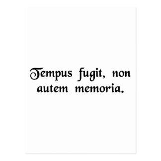 時間は、ない記憶飛びます ポストカード