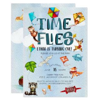 時間は 凧のテーマの第1誕生会を飛ばします カード