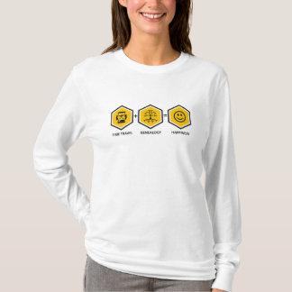 時間旅行 + 系図学=幸福 Tシャツ