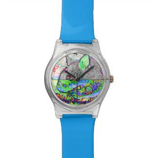 時間旅行Wombatのサイケデリックな腕時計 腕時計