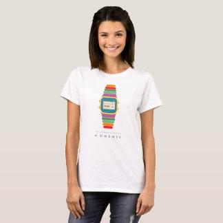 時間|の時|デジタルの腕時計のポップアートのTシャツ Tシャツ