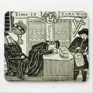 「時間、時間ありました」は、イラストレーションのコピーからのあります マウスパッド