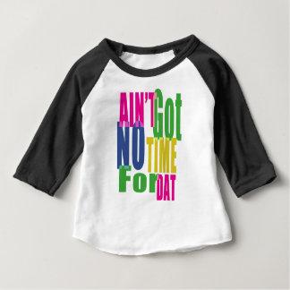 時間Dat -ベビー3/4の袖のための得られません ベビーTシャツ