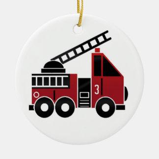 普通消防車のオーナメント セラミックオーナメント