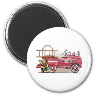 普通消防車のペダル車の円形の磁石 マグネット