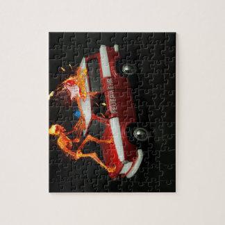 普通消防車の骨組 ジグソーパズル