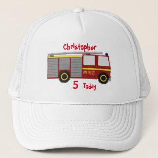 普通消防車はちょうど一流の誕生日を加えます キャップ
