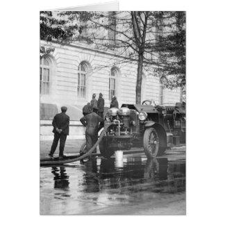 普通消防車力の洗浄1923年 カード