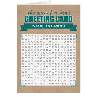 普遍的な単語の調査の挨拶状 カード