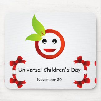 普遍的な子供の日11月20日 マウスパッド