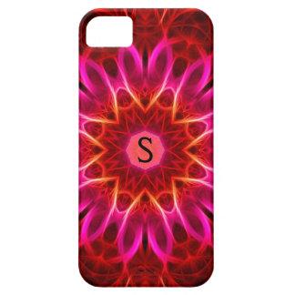 普遍的な日曜日の燃えるモノグラムのiPhone 5 iPhone SE/5/5s ケース
