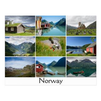 景色および文字が付いている郵便はがき: 「Norway ポストカード