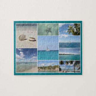 景色のカリブのなIsla Saonaの写真のコラージュ ジグソーパズル