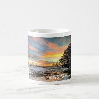 景色のサウスダコタの冬の日没のマグ コーヒーマグカップ