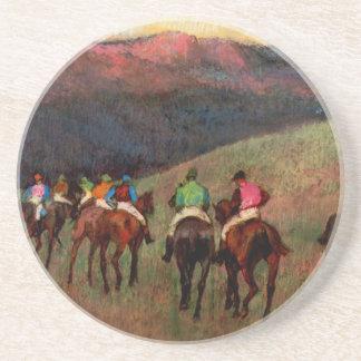 景色のジョッキーの馬の芸術の競馬馬はガスを抜きます コースター