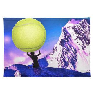 景色のテニス ランチョンマット