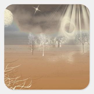 景色のデジタル火星の芸術 スクエアシール