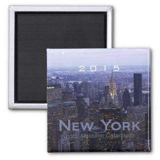 景色のニューヨーク旅行記念品の冷蔵庫用マグネット マグネット