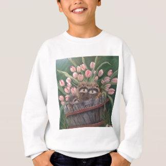 景色のペンキの絵画手の芸術の自然のアライグマ スウェットシャツ