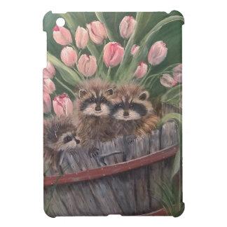 景色のペンキの絵画手の芸術の自然のアライグマ iPad MINIケース