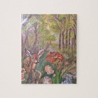 景色のペンキの絵画手の芸術の自然 ジグソーパズル