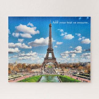 景色の写真: エッフェル塔およびパリのスカイライン、 ジグソーパズル
