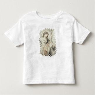 景色の子ヒツジを持つ若いジョン トドラーTシャツ