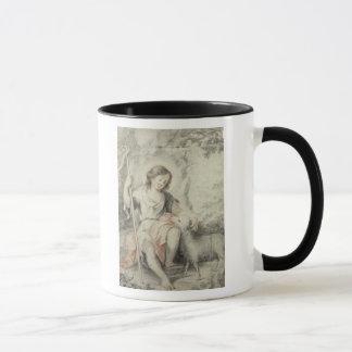 景色の子ヒツジを持つ若いジョン マグカップ