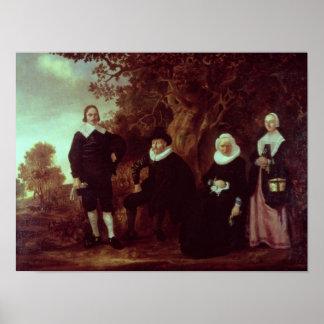 景色の家族のグループ ポスター