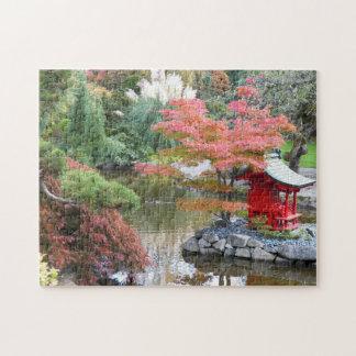景色の日本のな庭の写真のジグソーパズル ジグソーパズル