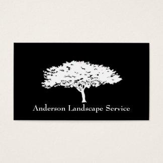 景色の木の取り外しの黒カード 名刺