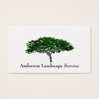 景色の木の取り外しカード 名刺