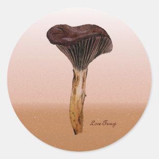 景色の深いビロードの菌類 ラウンドシール