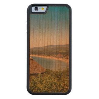 景色の空中写真Piriapolisウルグアイ CarvedチェリーiPhone 6バンパーケース