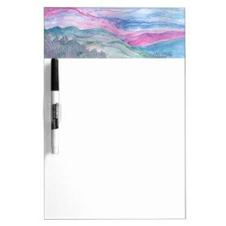 景色のSmokey抽象的な山 ホワイトボード