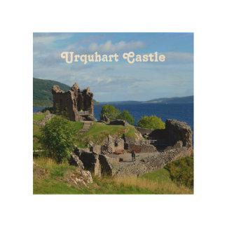 景色のUrquhartの城の台なし ウッドウォールアート