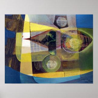 景色ブエノスアイレス22x17.25の抽象芸術 ポスター