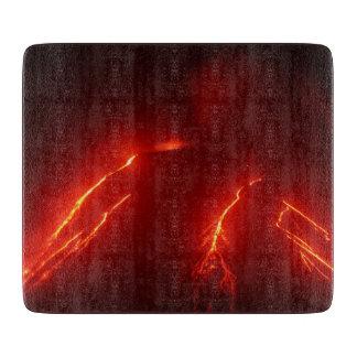 景色夜噴火の火山 カッティングボード