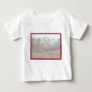 景色山の結婚式招待状セット ベビーTシャツ