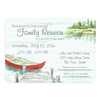景色湖およびカヌーの家族会 カード