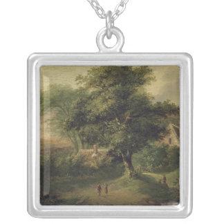 景色1827年 シルバープレートネックレス
