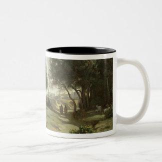 景色1845年のホーマーそして羊飼い ツートーンマグカップ