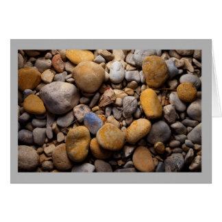 景色35のカラフルな水擦り切れたで滑らかな石 カード