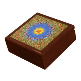 晴れた日のカラフルなタイルのギフト用の箱 ギフトボックス