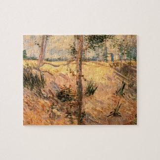 晴れた日の分野のゴッホの木 ジグソーパズル