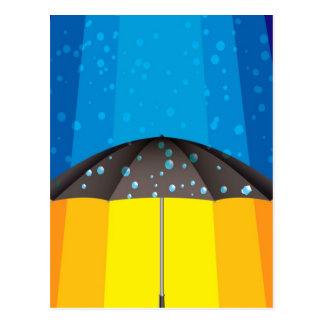 晴れた日の雨嵐 ポストカード
